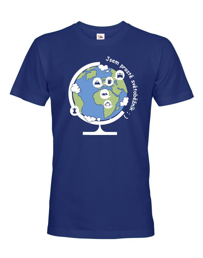 Pánské triko jsem prostě světoběžník